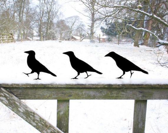 Crow Garden Sculpture Gifts, Raven Bird Yard Art