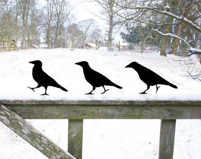 Crow Garden Sculpture Gifts, Raven Bird Yard Art