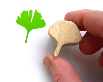 Ginkgo Leaf Stamp, Ginkgo Rubber Stamp, Irish Lucky Charm