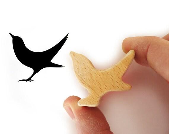 Black Bird Stamp, Songbird Stamp