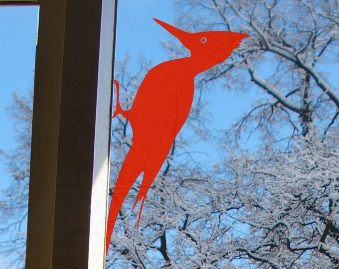 Woodpecker Bird Window Sticker - Willy the Woodpecker self adhesive vinyl decal