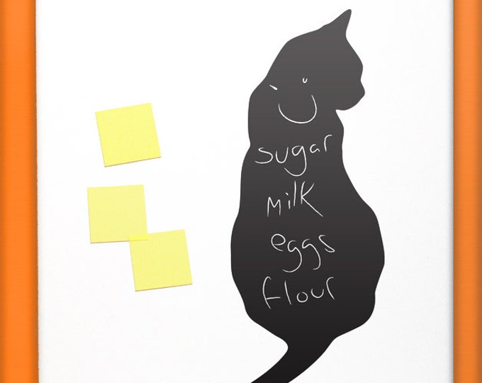 Cat Lover Fridge Sticker Gift, Kitchen Chalk Blackboard Wall Decal