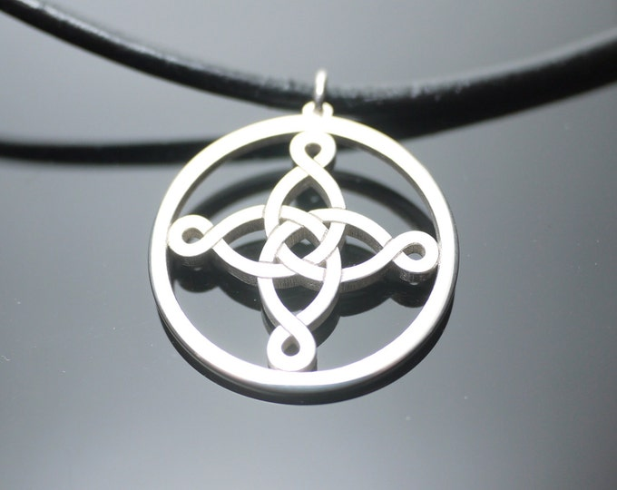 Silver Celtic Cross Pendant, Necklace Charm