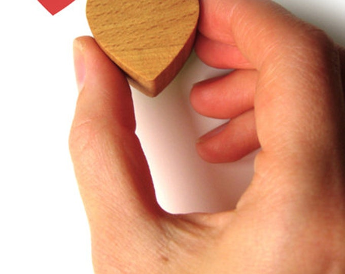 Heart Rubber Stamp, Love Heart Gift for Her