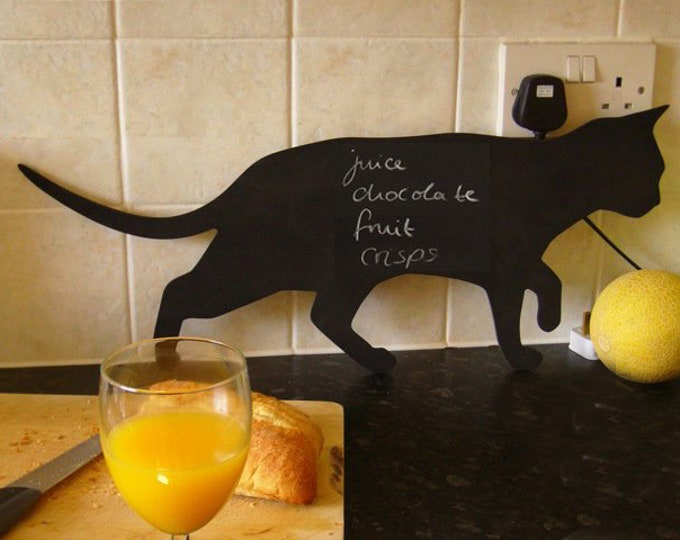 Cat Chalk Board Cat Prowling Kitchen Blackboard