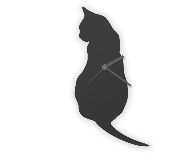 Black Cat Clock, Cat Wall Clock