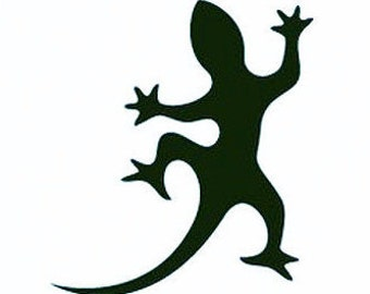 Gecko Wall Stickers, Lizard Stickers - 4 sets