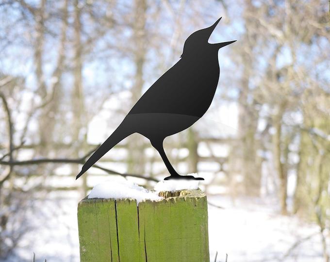 Bird Garden Sculpture, Early Bird Catches the Worm