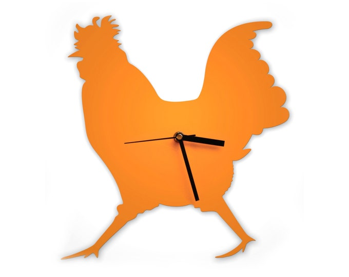 Cockerel Wall Clock Chicken Clock