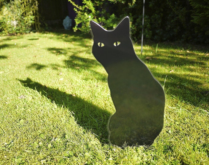 Outdoor Garden Cat Lawn Ornament for Cat Lovers, Cat Garden Memorial