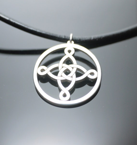 Silver Celtic Necklace, Pendant Charm