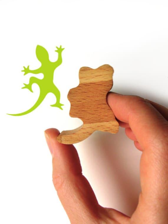 Gecko Rubber Ink Stamp, Gecko Stamp