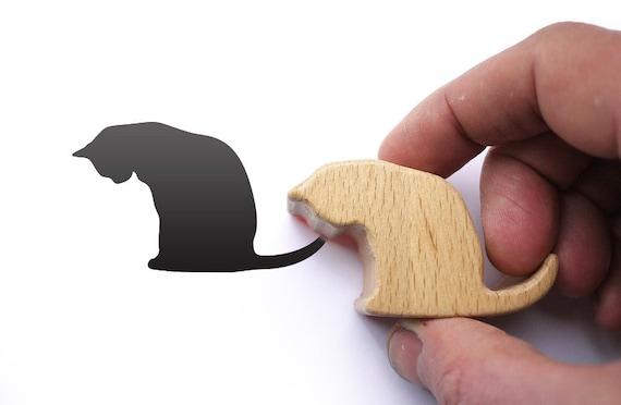 Cat Stamp Card Making Gift, Animal Rubber Stamp