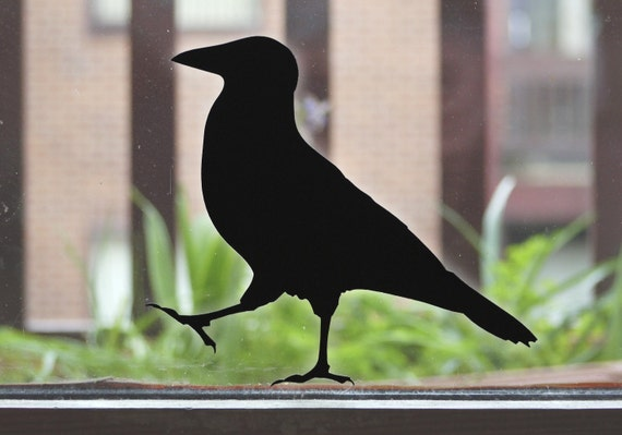 Crow Sticker, Raven Bird Wall or Window Stickers