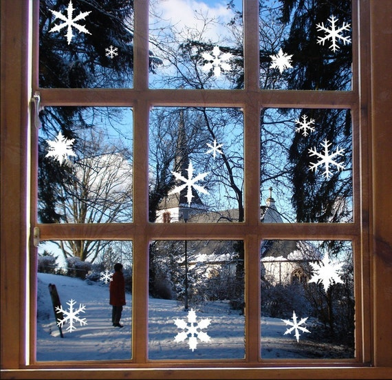 Snowflake Window Stickers, Festive Christmas Wall Decals