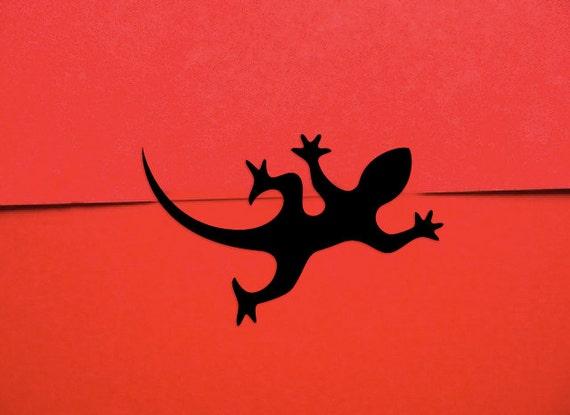 Gecko Stickers - Lizard Gift Tape Salamander Gift Wrap Stickers (60 Stickers)