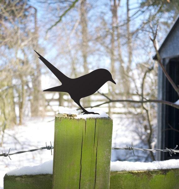 Bird Metal Sculpture for the Garden, Gardener Gift