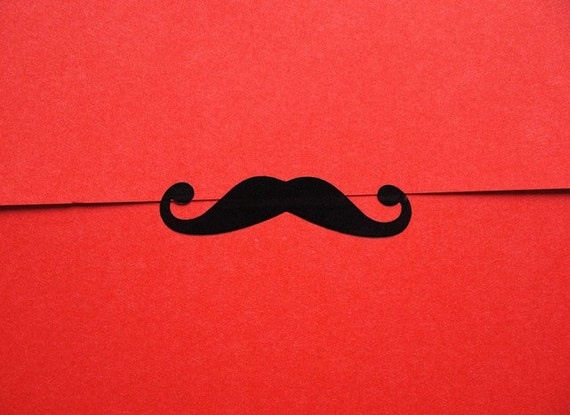Moustache Stickers, Gift Wrap for Men