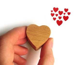 Heart Rubber Stamp, Valentine Love Heart Gift for Her