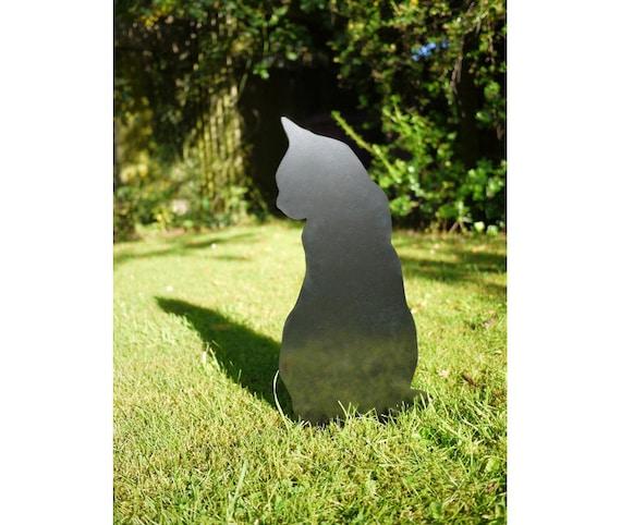 Cat Garden Sculpture, Kitty Metal Yard Art