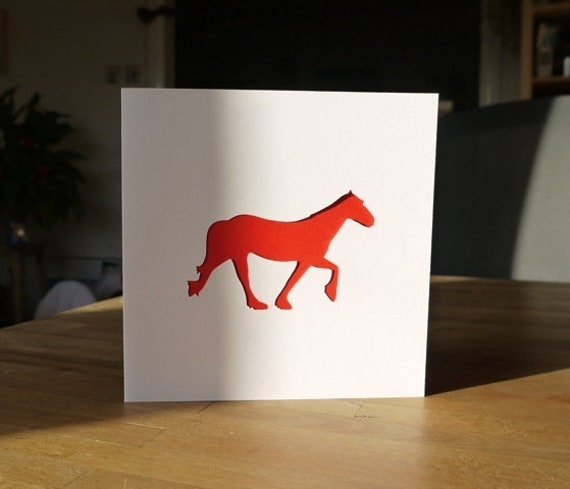 Horse Birthday Card, Pony Greeting Card for Horse Lovers