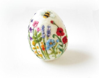 Easter egg,Felted egg,Easter ornament,collectible, miniature art