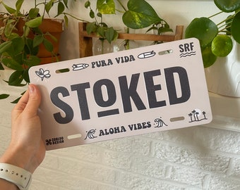 Stoked Licence Plate