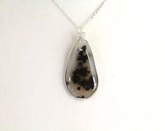 Marfa Black Plum  Agate Pendant. Listing 122169203