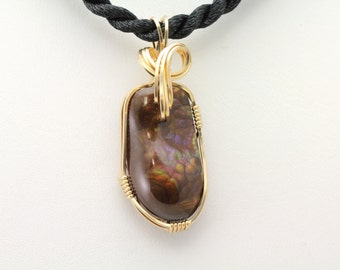Fire Agate Pendant. Listing 481350668 Price reduced!