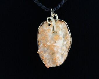 Orange Aura Quartz.Listing 242457339