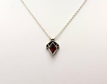 Garnet Pendant. Listing 551925063