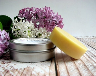 Solid Lotion Bars. 4 Lotion Bars in tin, Your Choice of Scents.
