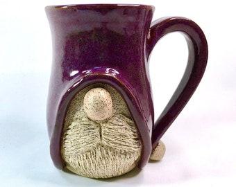 Pottery Mug, Handmade Pottery Mug, Gnome, Birthday Gift, Dad Gift