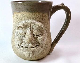 Handmade Pottery Mug, Stoneware Mug, Moon, Birthday Gift, Dad Gift