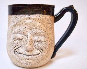 Pottery, Handmade Stoneware Mug, Moon, Birthday Gift, Dad Gift