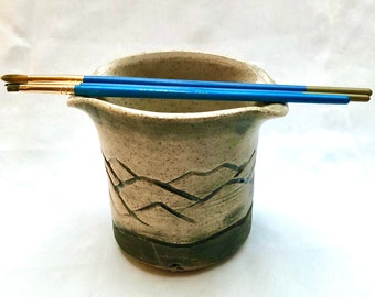 Pottery, Handmade, Paint Brush Holder, Ceramic Cup, Birthday Gift, Dad Gift