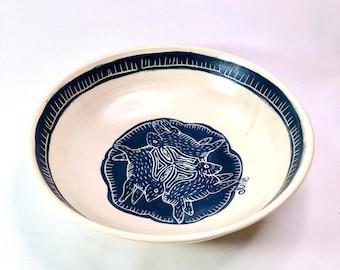 Handmade Pottery, Bowl, Rabbit, Anniversary Gift, Wife Gift