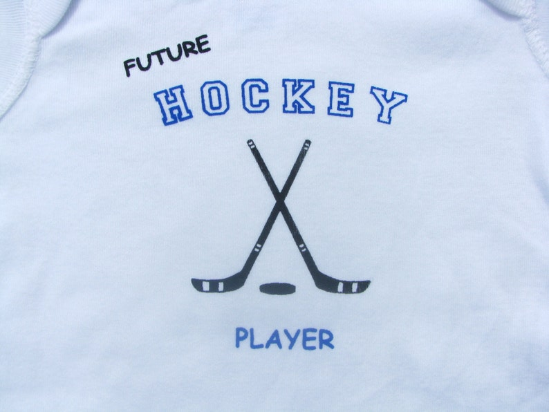 White Long Sleeve available Future Hockey Player Bodysuit