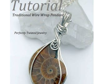Wire Wrapping TUTORIAL Cabochon Pendant Square Wire Wrap DIY Wire Jewelry Pattern, Perfectly Twisted Jewelry, Learn how to make wire jewelry