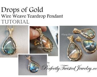 Diy Tutorial Jewelry Wire Wrapped Earrings Marvelous Etsy