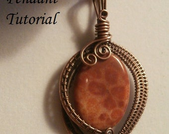 Wire TUTORIAL, 3 files! Wire Wrapped Jewelry Pendant, Beginner to Intermediate Jewelry Pattern, Making Wire Jewelry