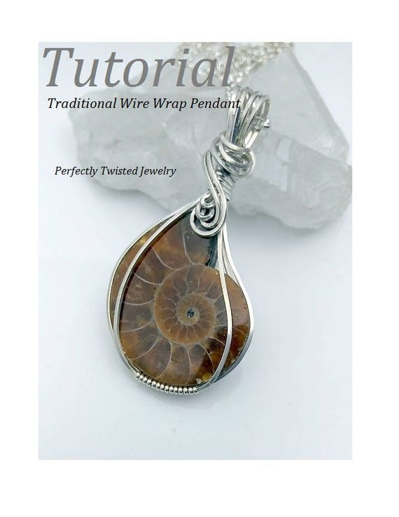 Wire Wrapping TUTORIAL Cabochon Pendant Square Wire Wrap DIY