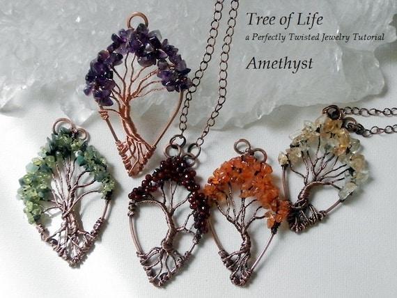 Draht wickeln Tutorial Baum des Lebens Anhänger Learn wire   Etsy
