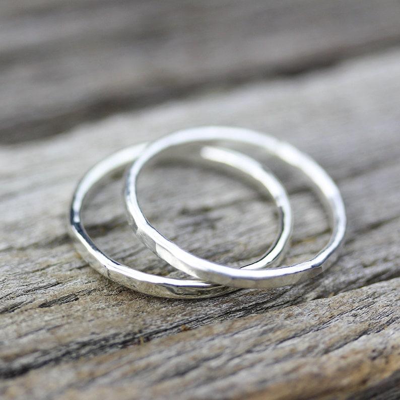 Pink Gold Ring 14K Gold Stacking Rings  Solid Gold Skinny Rings Wedding Band Yellow Gold Ring White Gold Ring Boho Jewelry Boho Ring