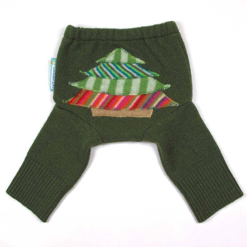 WOOL LONGIES  Wool Diaper Cover  Holiday Cheer  image 0