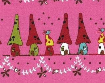 Japanese, Lecien, Natalie Lymer - Cinderberry Stitches, Woodland Neighbors in Pink 30404.20 - 1 Yard Sale