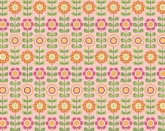 Riley Blake, Summer Song, Summer Flowers in Pink C7051 - 1 Yard - Clearance