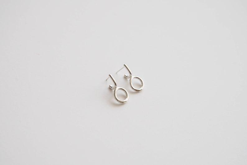 79ffb33f620b7 Gold, Silver Simple Small Studs, Statement Stud Earrings, Circle Studs,  Modern, Minimal Studs | Arnu Small Earrings