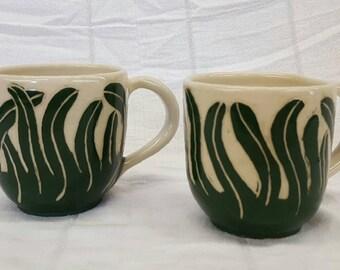 Set of 2 Reed Mugs