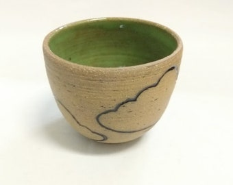 Cloud Cups in Brown Stoneware